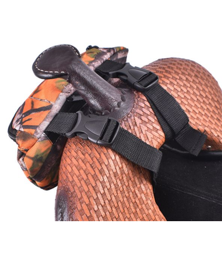 Showman Printed Insulated Nylon Saddle Pouch