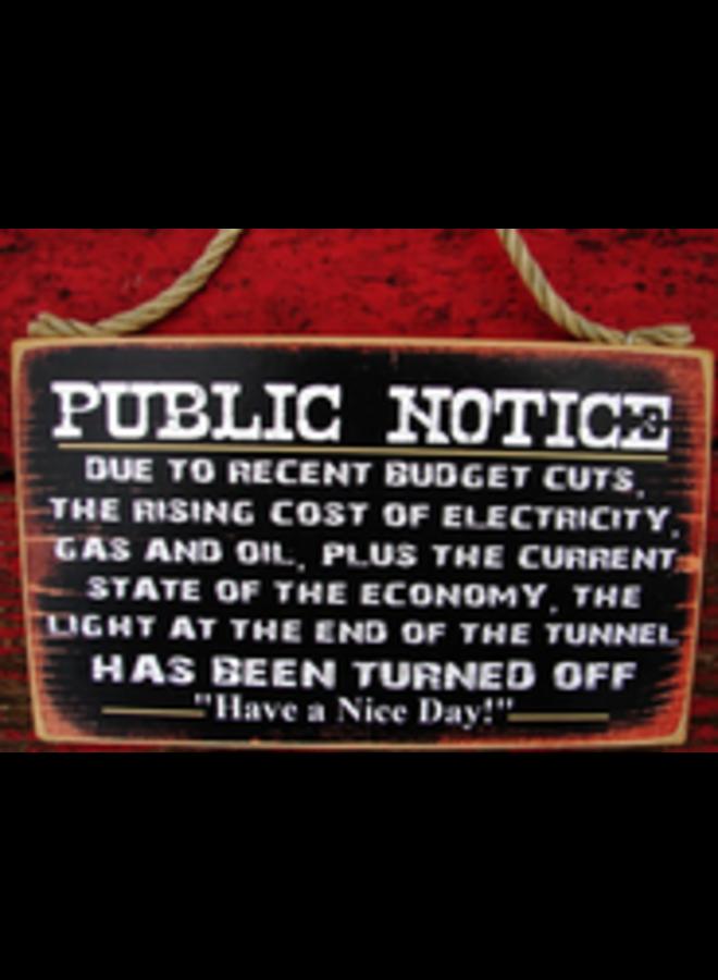 #999 Public Notice
