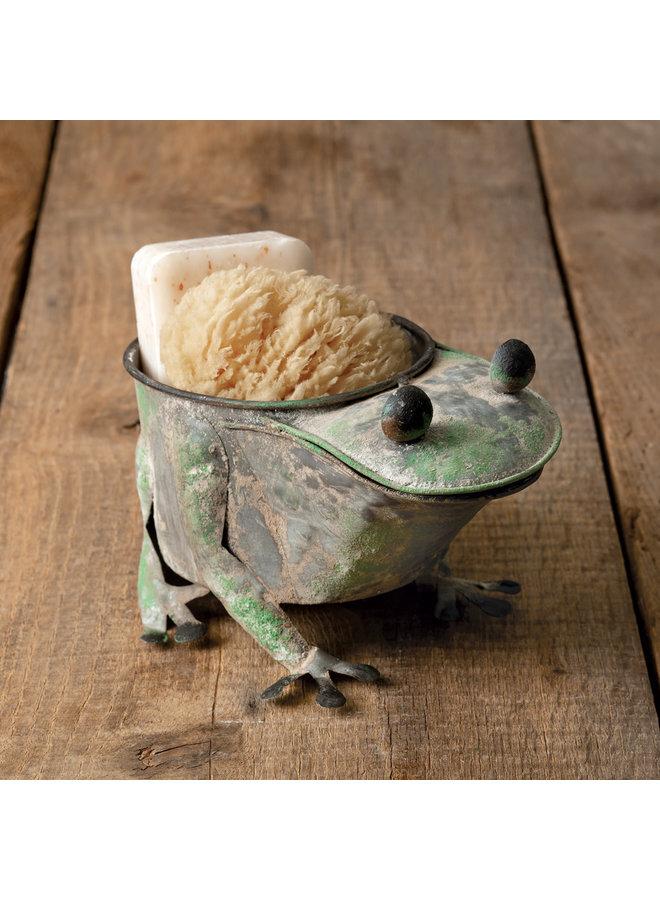 Rusty Frog Planter