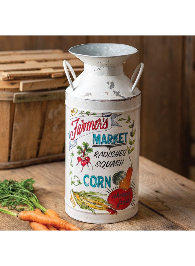 Farmer's Market Milk Can