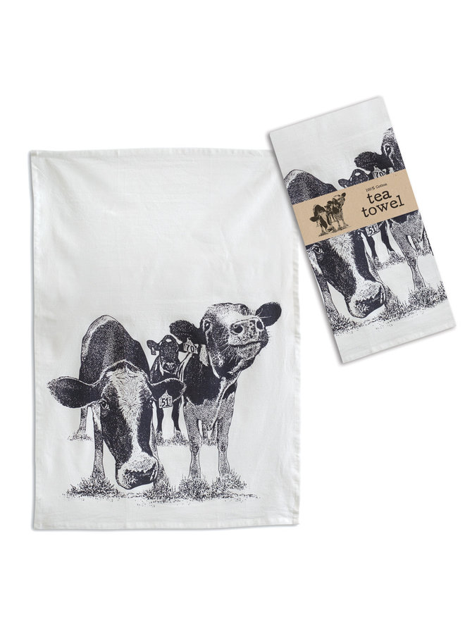 Happy Cows Tea Towel