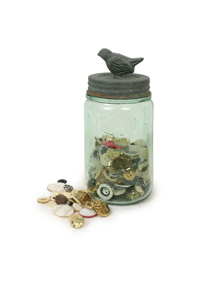Pint Mason Jar With Songbird Lid