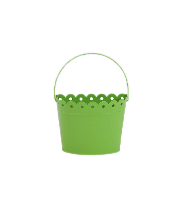 Scalloped Half Pail Lime Green