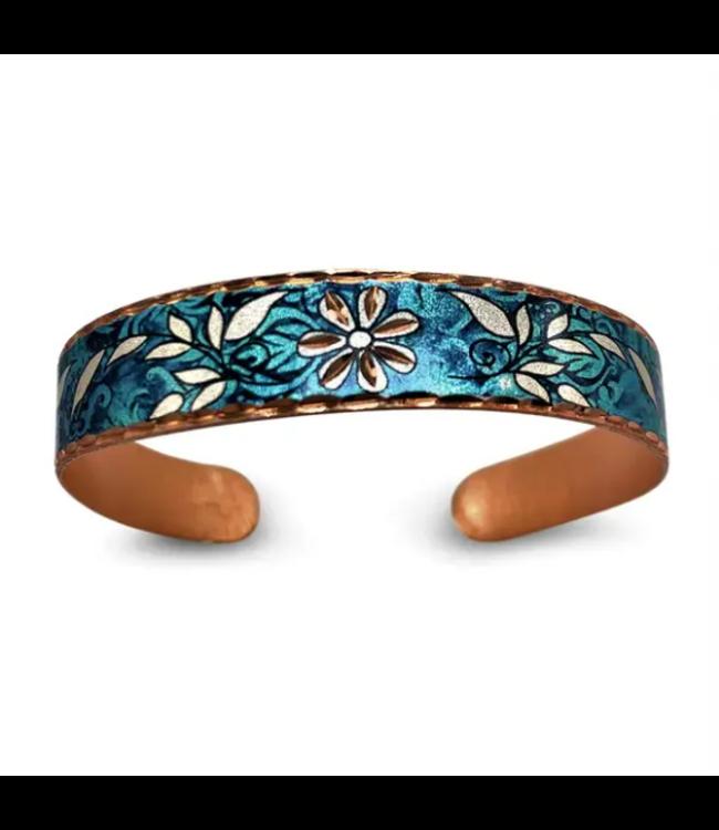 Copper Thin Cuff Bracelet