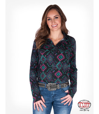 Cowgirl Tuff 278 Black Aztec Jersey Pullover