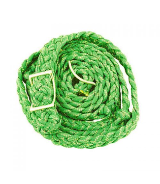 Lime Green Glitter Braided & Knotted Barrel Reins 8'