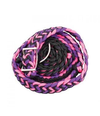 Tri Colored Knotted Braided Barrel Reins 8'