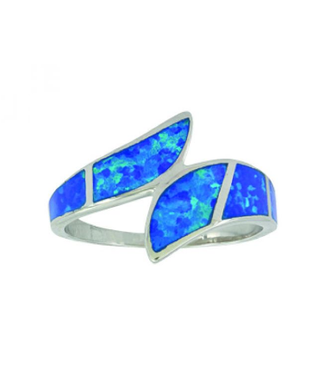 Montana Silversmith River of Lights Dueling Waves Opal Ring
