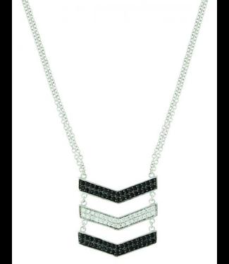 Montana Silversmith Chevron Suspension Necklace