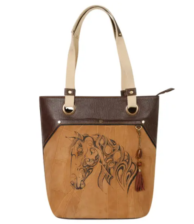 Vaan & Co Upcycled Leather Horse Tote