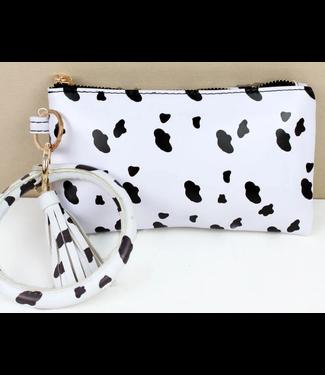Cow Print Bangle Wristlet