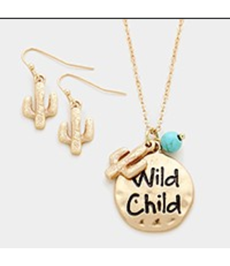 Wild Child Necklas and Cactus Earrings