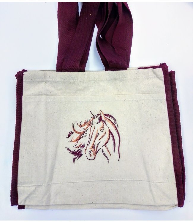 Embroidered Horse Head Bag