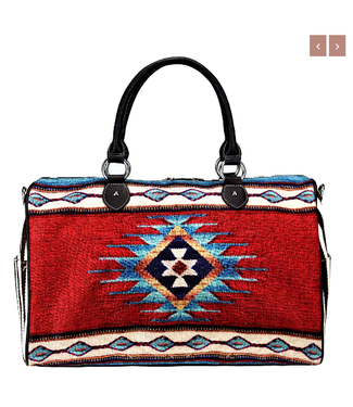 MW939-5110 Montana West Aztec Canvas Weekender Bag