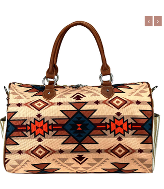 MW932-5110 Montana West Aztec Canvas Weekender Bag