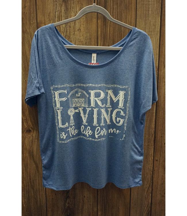 Beyond the Barn Farm Life Slouchy Crop Tee