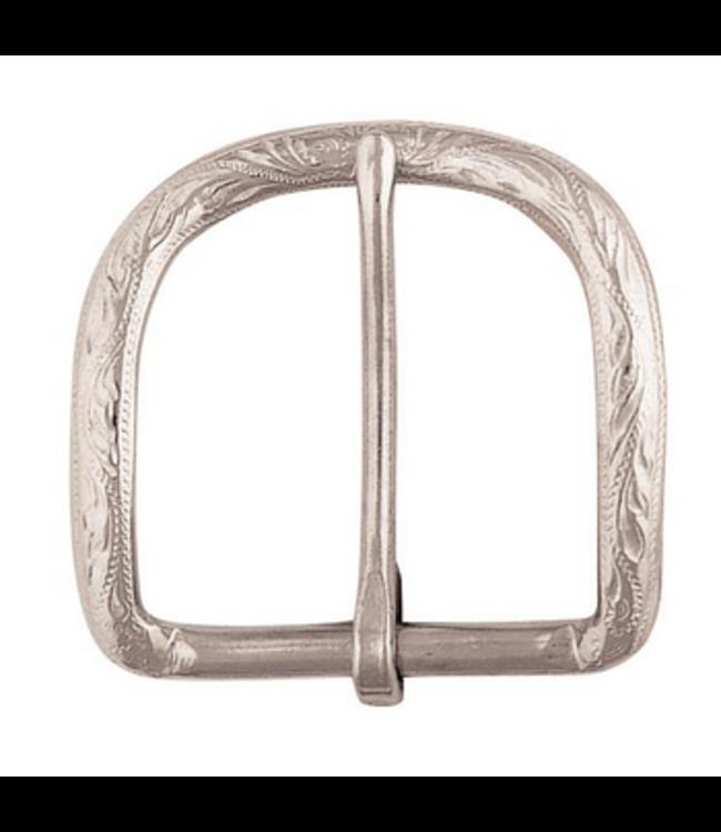 "Weaver Alamo Belt Buckle Nickel Plated, 1-1/2"""