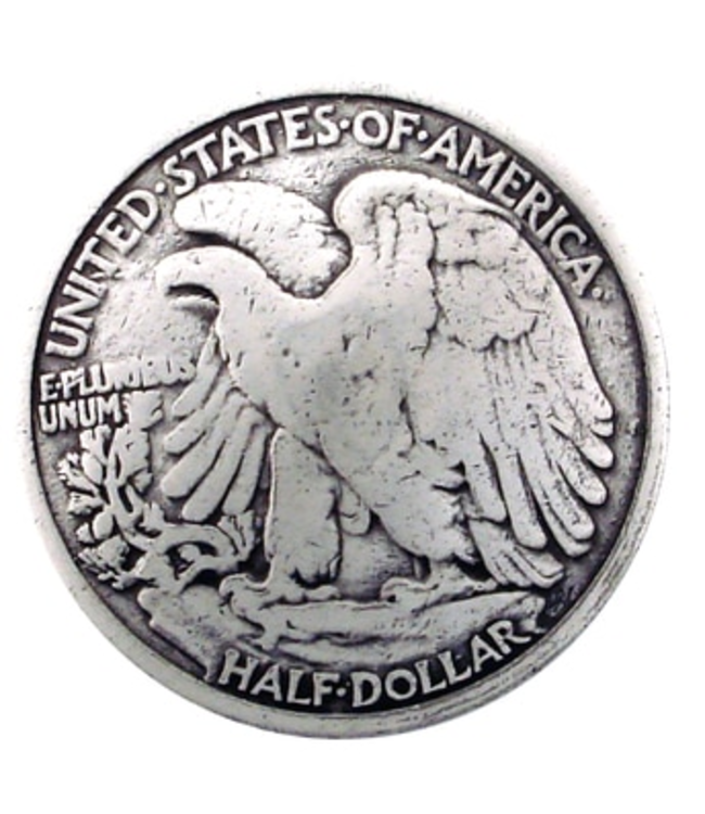 "1 1/4"" American Eagle Half Dollar Coin Reproduction Concho"