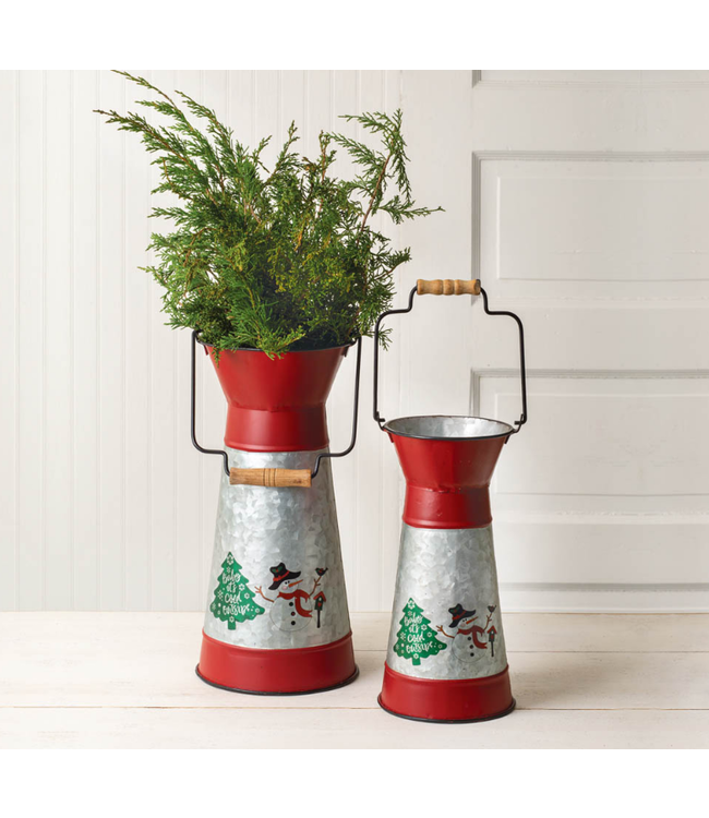 Holiday Scene Container with Handle