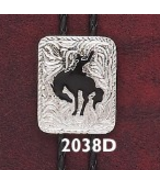 Bolo Silver with Black Bronc 2038D