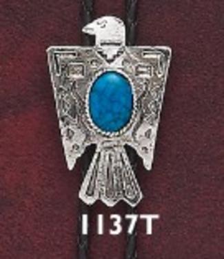Bolo Thunderbird with Turquoise Stone 1137T