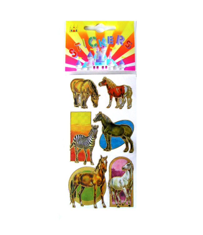 Rainbow Horse Stickers - Assorted