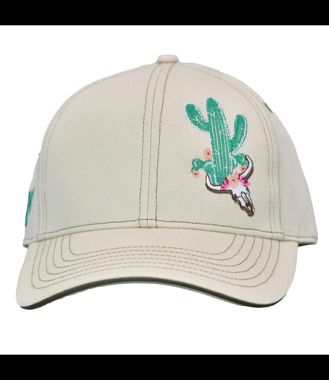 Cowboy Hardware Cactus Skull Snapback Cream