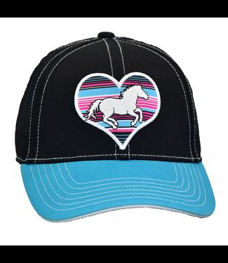 Cowboy Hardware Kid's Cap Serape Heart Horse