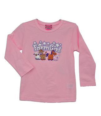Cowboy Hardware Todler Girl's Farm Girl Long Sleeve Tee