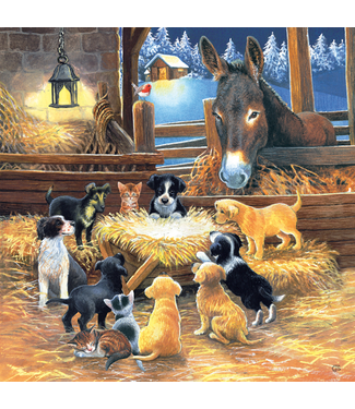 Barnyard Nativity 500 Piece Puzzle