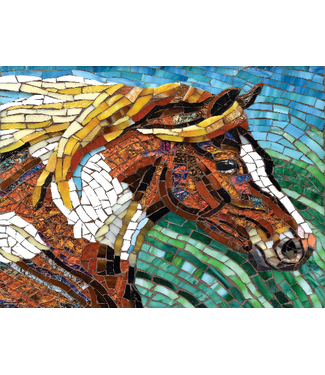 Stained Glass Horse 1000 Piece Puzzle