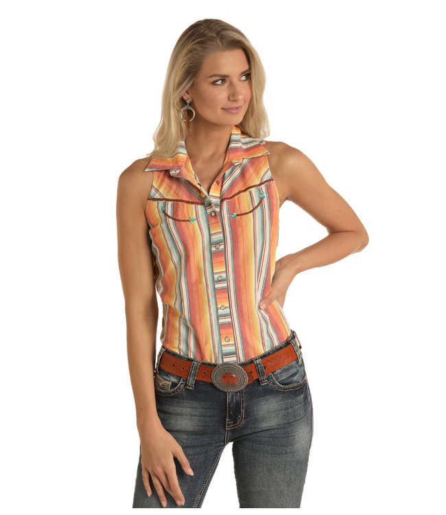 Panhandle Slim Rock & Roll Cowgirl Sleeveless Serape Stripe