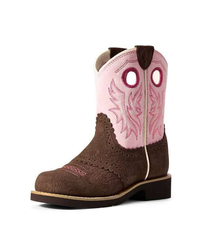 Ariat 817 Youth Fatbaby Tooled Brown/Dusty Pink
