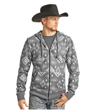 Panhandle Slim Long Sleeve Grey Printed Hoodie