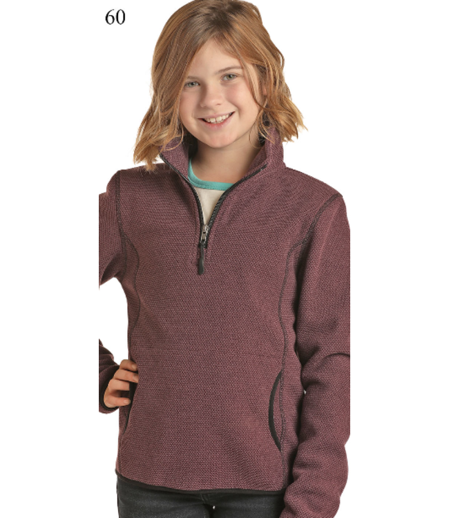 Powder River Outfitters Kid's Waffle Fleece Pullover