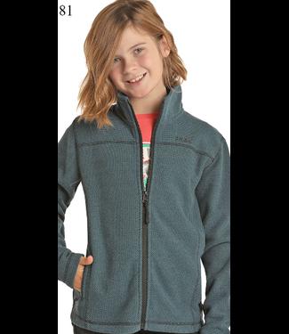Panhandle Slim Kid's Waffle Fleece Zip Jacket K2-6660