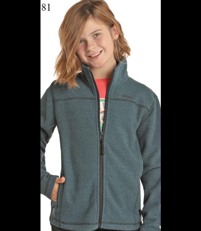 Powder River Outfitters Kid's Waffle Fleece Zip Jacket K2-6660