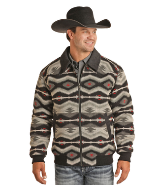 Powder River Outfitters Powder River Men's Aztec Wool Jacket 92-6641