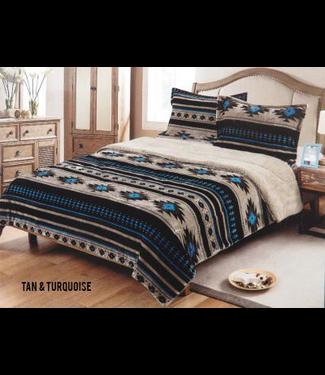 Flannel Borrego Southwest Comforter Set King