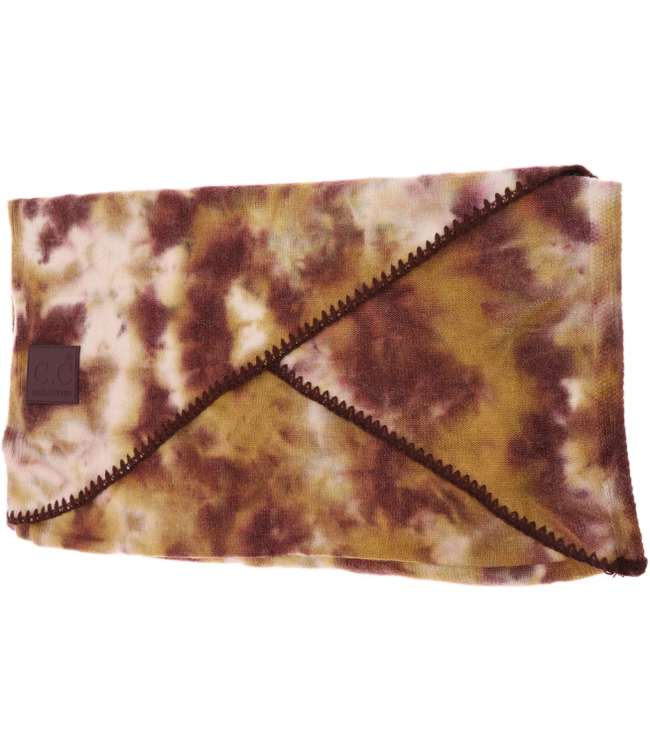 C.C CC Tie Dye Scarf with Rubber Patch