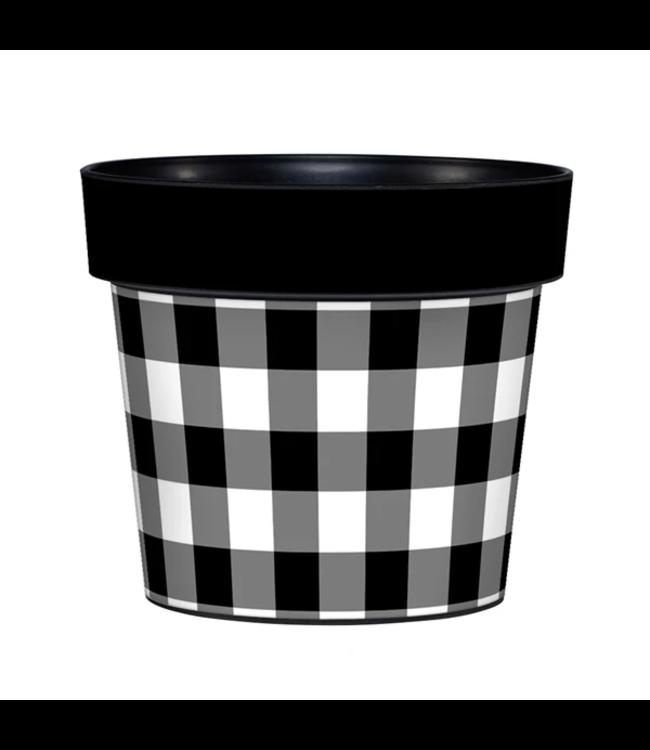 """Studio M Black and White 6"""" Art Pot"""
