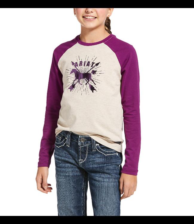 Ariat Kid's Dash Logo LS T-Shirt