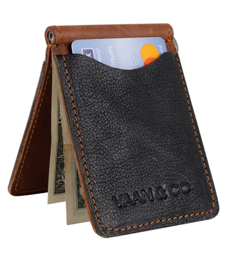 Vaan & Co Upcycled Leather Money Clip Wallet VG1028-P7