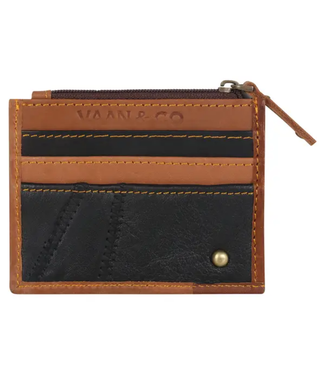 Vaan & Co Upcycled Leather Credit Card Wallet