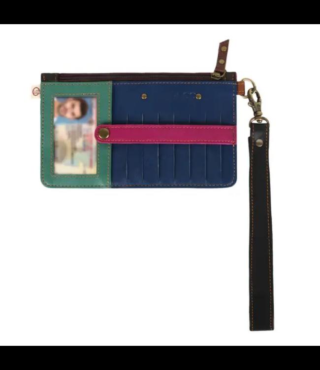 Vaan & Co Upcycled Leather Credit Card Holder Wristlet S2V-303