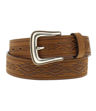 Tony Lama Navajo Blanket Tooled Belt