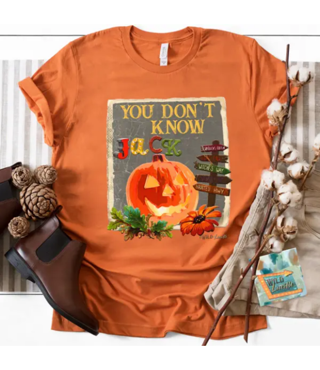 Wild Lucille Apparel 371 You Don't Know Jack - Graphic Printed Crewneck Tee