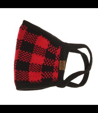 C.C. Knit Buffalo Plaid Face Mask