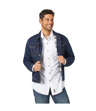 Wrangler Blanket Lined Denim Jacket - Faded Indigo