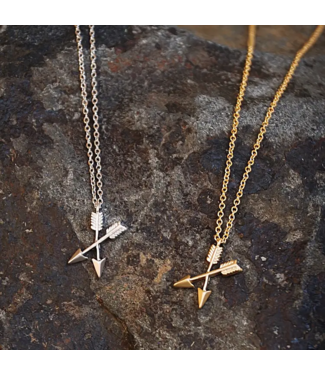 Buffalo Girls Salvage Crossing Arrows Necklace